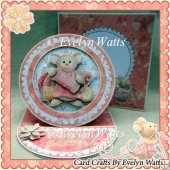Cute Mouse Easel Plate Card Kit