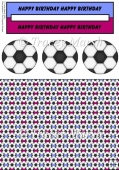 Claret and Blue Football Penny Slider Sheet