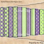 Useful Pattern 8x8 Papers Set 1