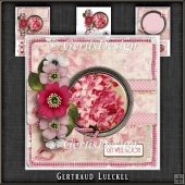 Vintage Flowers Dots and Butterflies pink 1080