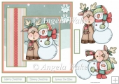 Snowman and reindeer 7x7