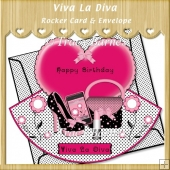Viva La Diva Rocker Card & Envelope