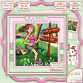 Jogging Humour 8x8 Decoupage Kit