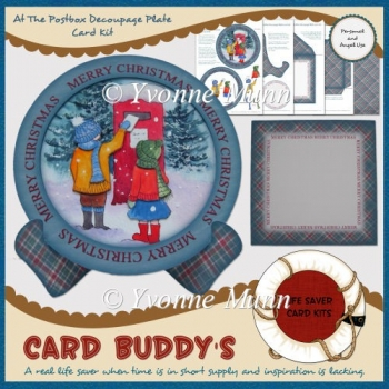 At The Postbox Decoupage Plate Card Kit