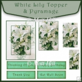 White Lily Topper and Pyramage