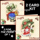 Cute Christmas Kids 2 Card Kit
