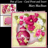 Pots of Love - Card Front and Insert