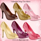 Simply Valentine Peep Toe Shoes