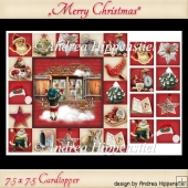 Card Topper 7.5 x 7.5 Dear Santa