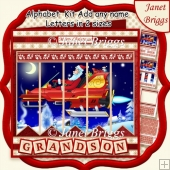 SANTA'S ROCKET SLEIGH Christmas 7.5 Quick Card Create Any Name