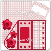 Red Rose Teardrop Decoupage Card