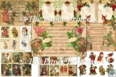 Country Christmas backgrounds with free Ephemera CU