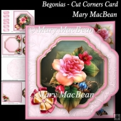 Begonias - Cut Corners Card