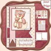 JUST A LITTLE NOTE FROM BEAR A5 Decoupage Kit All Occasions