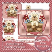 Spring Puppy 2 Decoupage Topper