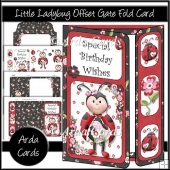 Little Lady Bug Offset Gate Fold Card