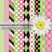 Liquorice Allsorts Digital Paper Pack {A4 Size}