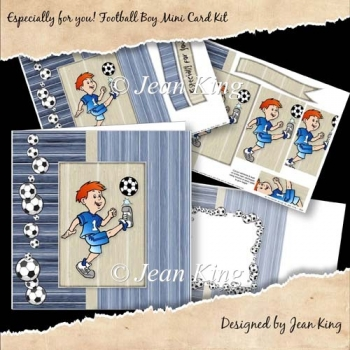 Especially for you! Football Boy Mini Card Kit