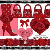 Rose Heart and Diamonds Licensed Set 2