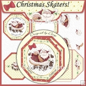 Christmas Skaters! Octagonal Card Kit