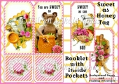 Sweet as Honey Tag Booklet Greeting Card Set