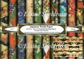 Japanese Washi Paper - Set Two - Ten A4 Printable Backing Paper