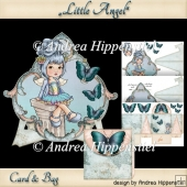 Card with Stand and Minibag Littel Angel