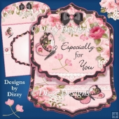 Blossoms, Blooms & Butterflies Easel Card