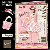 Stylish Dress Pattern Card