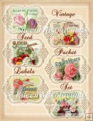 Vintage Seed Packet Labels Set