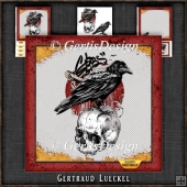 Cool Raven and Skull Card Kit 1084