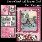 Snowy Church - A5 Pyramid Card