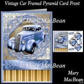 Vintage Car Framed Pyramid Card Front