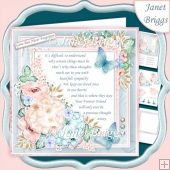 SYMPATHY VERSE in Pastels 7.5 Decoupage & Insert Mini Kit