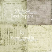 Set of Vintage Text Papers