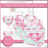 Perfect Roses Triple Heart Easel Card