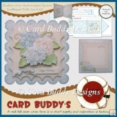 Shabby Chic Hydrangeas Square Scalloped Fold Card Kit