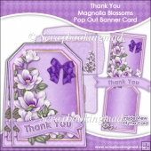 Thank You Magnolia Blossoms Pop Out Banner Card