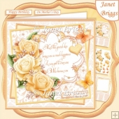 GOLDEN ROSES & VERSE 7.5 Decoupage & Insert Kit