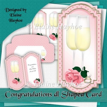 Congratulations dl Shaped Card Kit