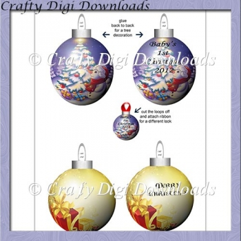 Baby's 1st Christmas Baubles