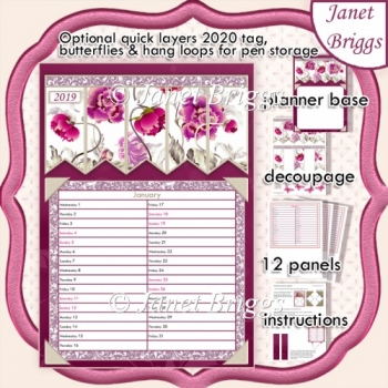 2020 Daily Planner ORIENTAL FLORAL Quick Layer Kit