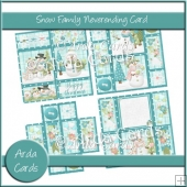 Snow Family Neverending Card