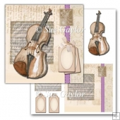 Violin Card Topper + Tags