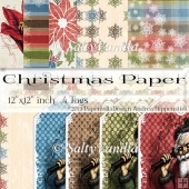 "Extra Christmas background paper 12""x12"" inch"