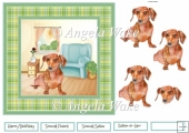 Cute Dachshund dog 7x7