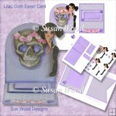 Lilac Goth Girl Easel Card