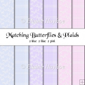 Butterflies and Plaids Papers
