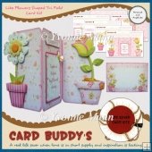 Like Flowers Shaped Tri Fold Card Kit