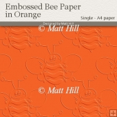 Embossed Bee Backing Paper in Orange